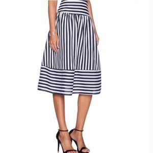 JOA Los Angeles Navy Blue and White Skirt